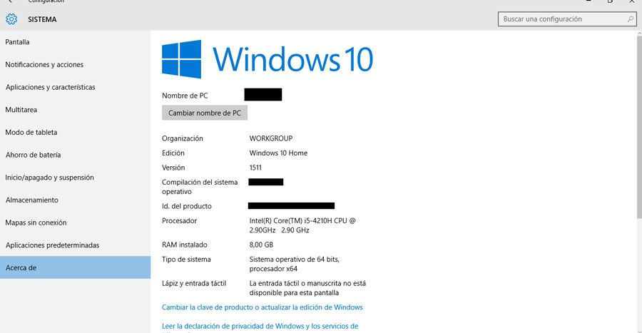 como saber la version de windows